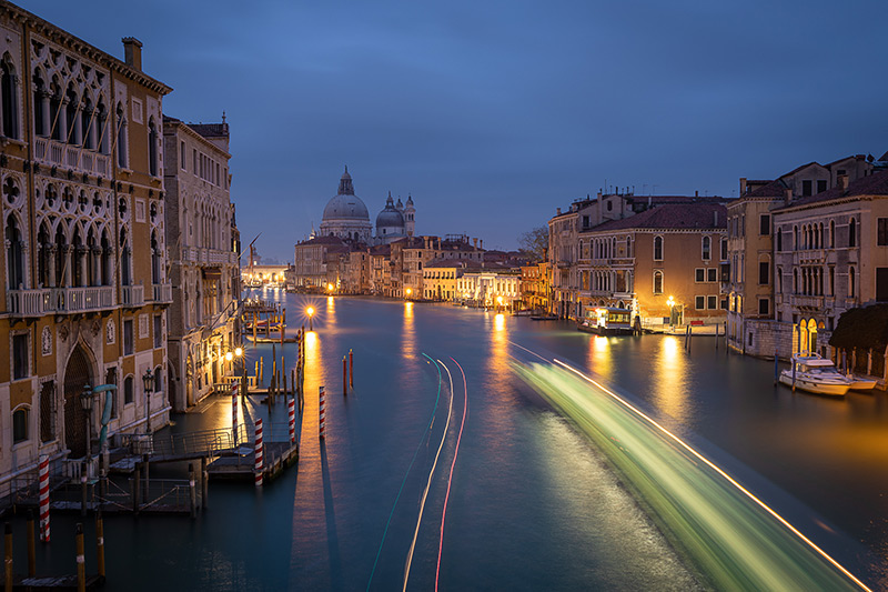 Venice Night Photography Accademia